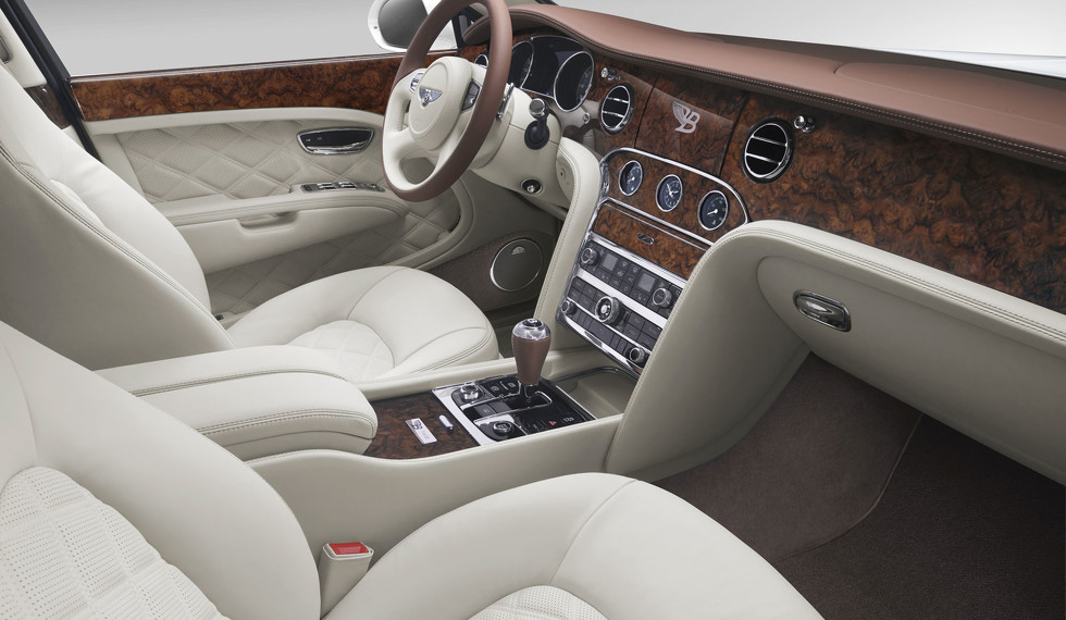 El interior del Birkin Mulsanne, un modelo exclusivo que solo está a la venta en el continente europeo y que Bentley presentó en junio de 2014.     Material cedido por Bentleymedia